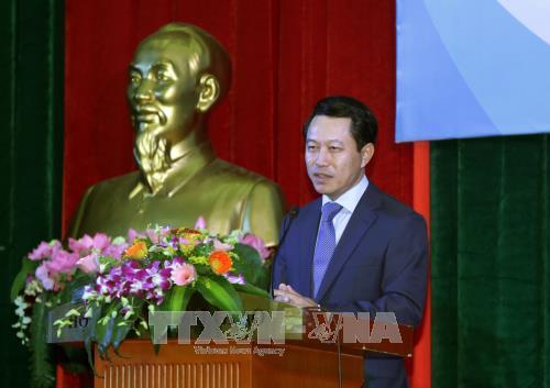 Canciller de Laos visita Academia Diplomatica de Vietnam hinh anh 1