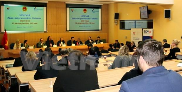 Vietnam busca penetrar en el mercado laboral de Republica Checa hinh anh 1