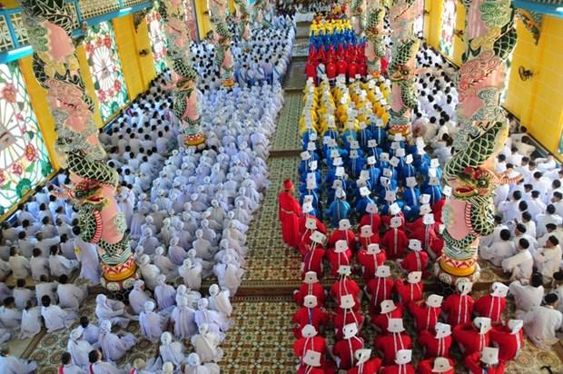 Iglesia de Cao Dai Tay Ninh celebra congreso para tenencia 2017-2022 hinh anh 1