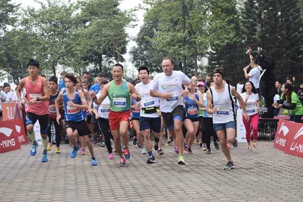 Centenares de personas corren en Hanoi por beneficio de osos hinh anh 1