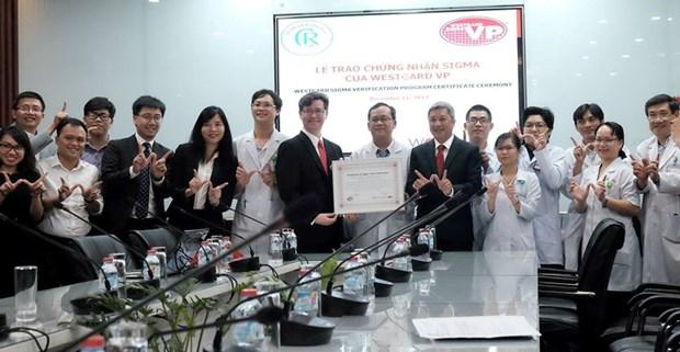 Primera instalacion medica de Vietnam logra estandar internacional Seis Sigma hinh anh 1