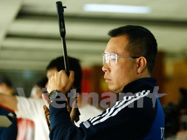 Equipo vietnamita obtiene medalla de bronce en campeonato regional de pistola aire hinh anh 1