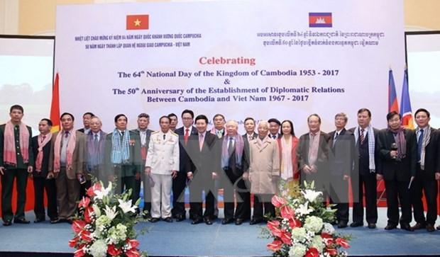 Conmemoran en Vietnam Dia nacional de Camboya hinh anh 1