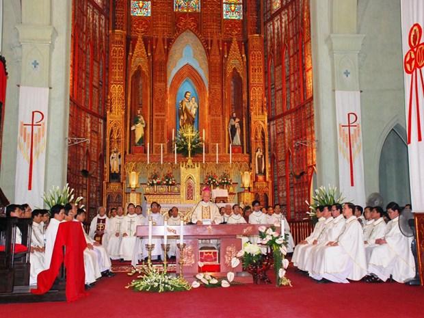 Celebran VII Congreso de Solidaridad Cristiana de Hanoi hinh anh 1