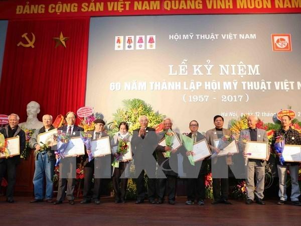 Asociacion de Bellas Artes de Vietnam celebra el 60 aniversario de su fundacion hinh anh 1