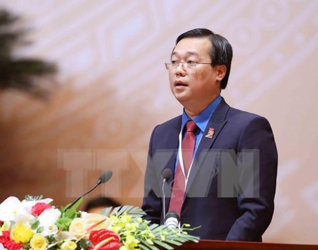 Le Quoc Phong reeligido como primer secretario del Comite Central de UJCHCM hinh anh 1