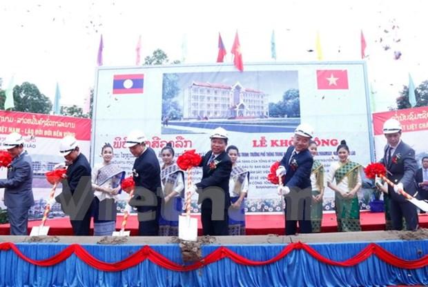 Arranca en Laos construccion de escuela Sithanaxay financiada por Vietnam hinh anh 1