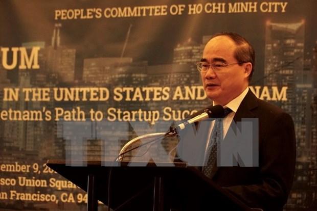 Ciudad Ho Chi Minh adquiere experiencias estadounidenses en el desarrollo urbano y emprendimiento hinh anh 1