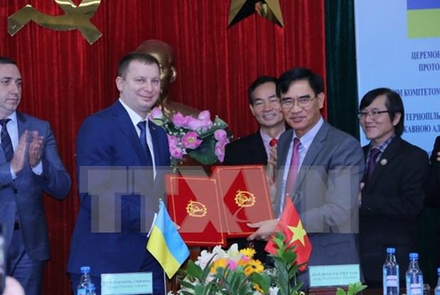 Provincias vietnamita y ucraniana cooperan en desarrollo de parques industriales hinh anh 1