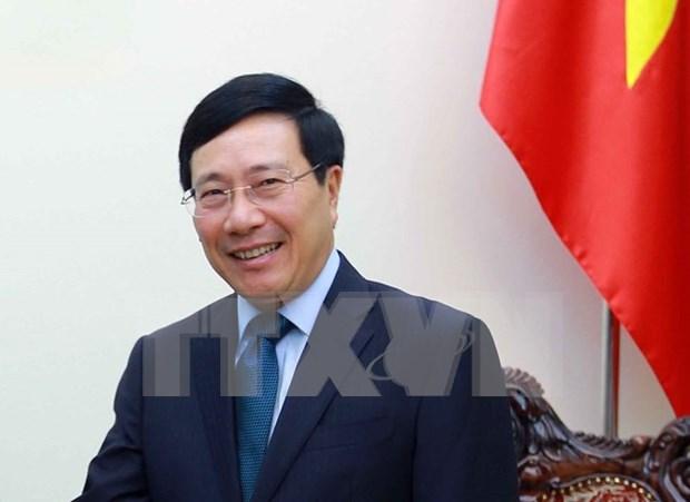 Vicepremier y canciller de Vietnam visitara Sudcorea hinh anh 1