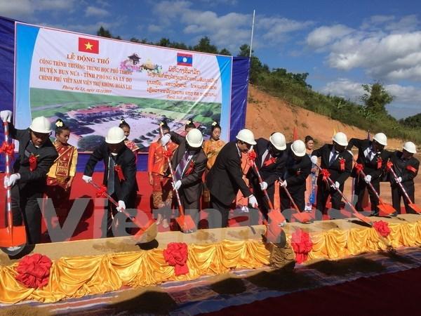 Inician en Laos construccion de escuela financiada por Vietnam hinh anh 1