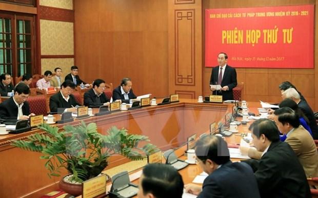 Presidente vietnamita preside reunion del Comite Directivo para Reforma Judicial hinh anh 1