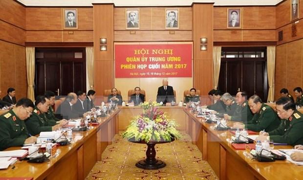 Lider partidista vietnamita orienta nuevas misiones militares para 2018 hinh anh 1
