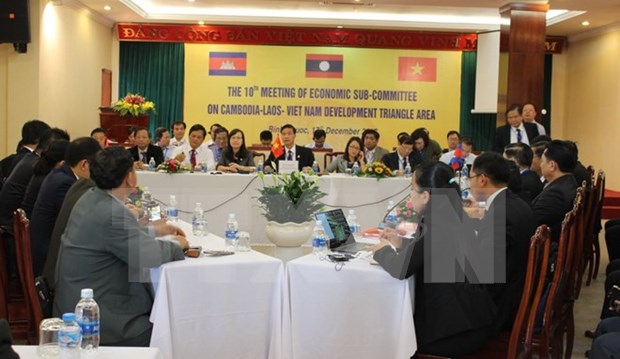 Celebran en provincia vietnamita reunion de subcomisiones economicas del Triangulo de Desarrollo CLV hinh anh 1