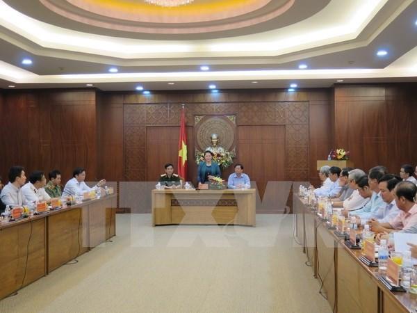 Presidenta del Parlamento vietnamita resalta logros socioeconomicos de Khanh Hoa hinh anh 1