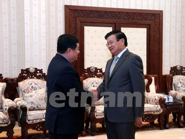 Aprecian aportes de comites de cooperacion Laos- Vietnam hinh anh 1