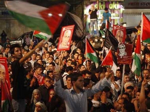 Masiva manifestacion en Indonesia contra reconocimiento estadounidense de Jerusalen hinh anh 1