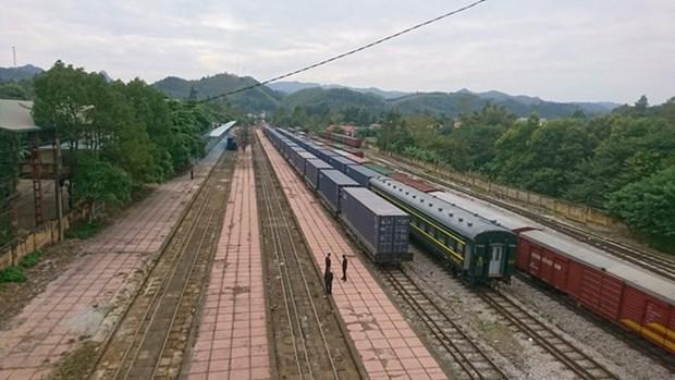 Inauguran servicio ferroviario de carga entre ciudades de Vietnam y China hinh anh 1