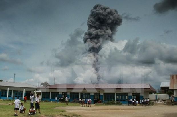 Entra en erupcion volcan Sinabung en Indonesia hinh anh 1