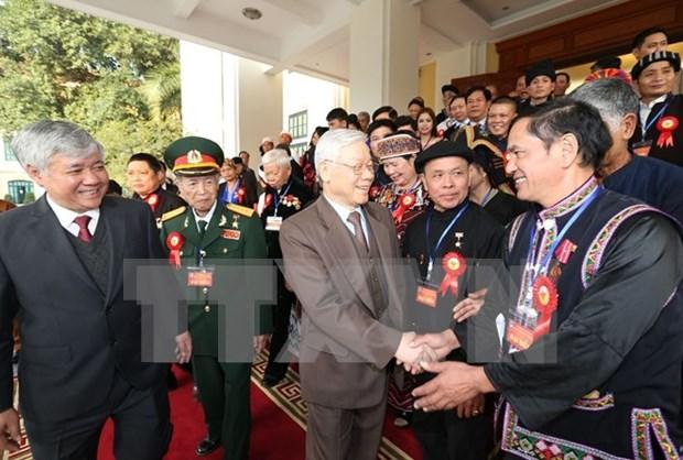 Maximo dirigente partidista de Vietnam destaca aportes de los etnicos hinh anh 1