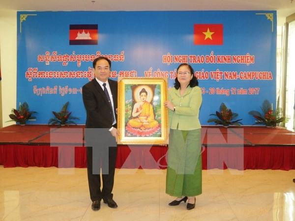 Autoridades de Can Tho y de Camboya trabajan sobre asuntos religiosos hinh anh 1