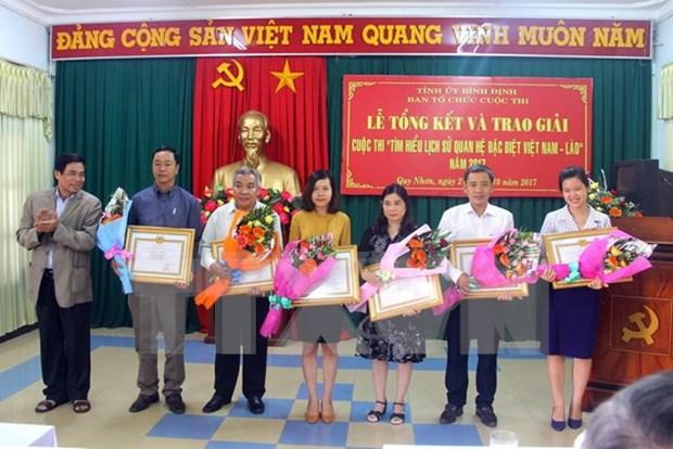 Clausuran concurso de escritura sobre historia de relacion especial Vietnam-Laos hinh anh 1