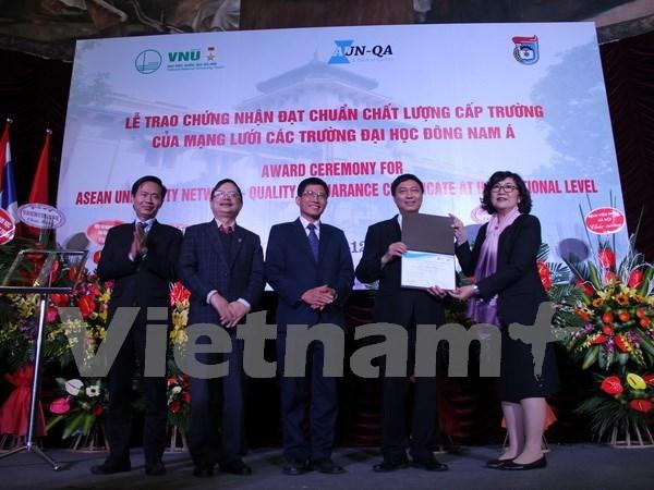 Primera universidad vietnamita logra estandares de Sudeste de Asia hinh anh 1