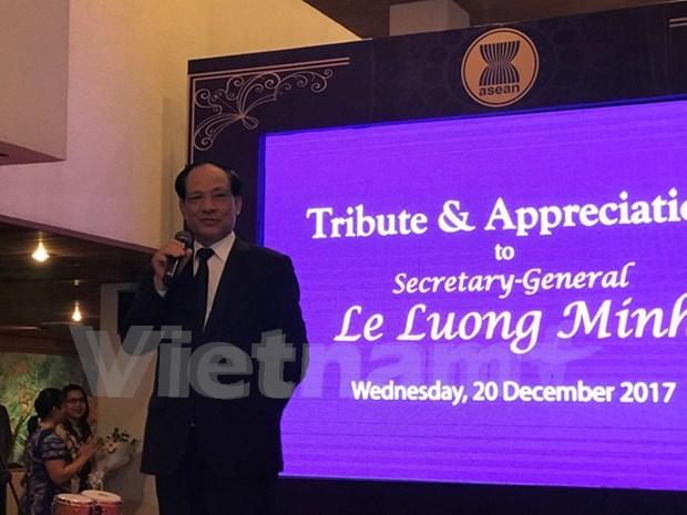 Le Luong Minh terminara su mandato como secretario general de la ASEAN hinh anh 1