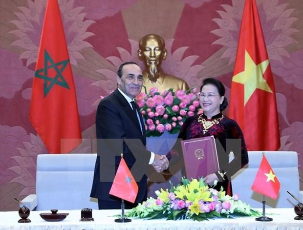 Concluye visita a Vietnam presidente de Camara de Representantes de Marruecos hinh anh 1
