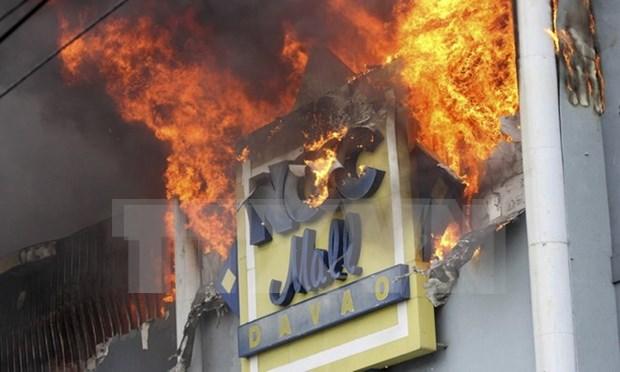 Filipinas reporta 37 muertos en un incendio en Davao hinh anh 1