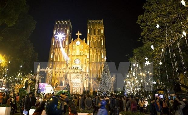 Ambiente navideno reina en localidades vietnamitas hinh anh 1