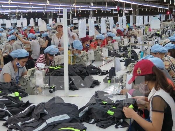Las confecciones textiles de Vietnam cierran 2017 con crecimiento de 10,23 por ciento hinh anh 1