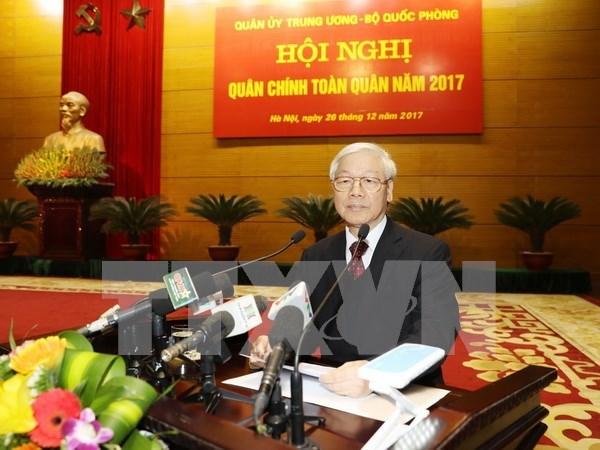 Dirigente partidista orienta labores de ejercito vietnamita en proximo ano hinh anh 1
