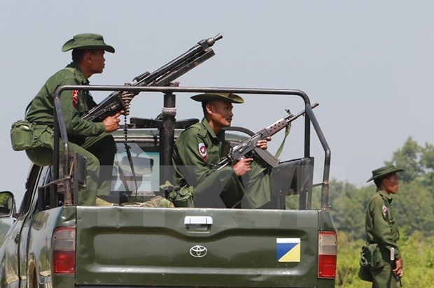 Myanmar prolonga ley marcial en Estado de Rakhine hinh anh 1