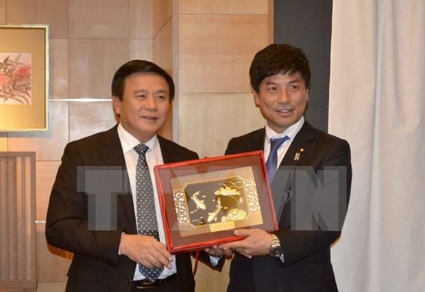 Secretario del Comite Central del PCV realiza visita de trabajo en Japon hinh anh 1