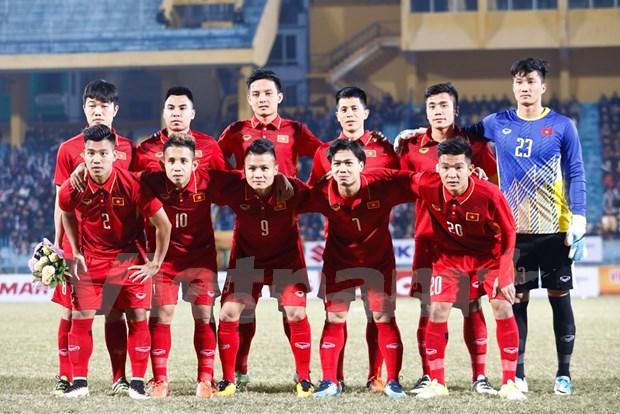 Seleccion vietnamita de futbol se prepara para Campeonato Asiatico en China hinh anh 1