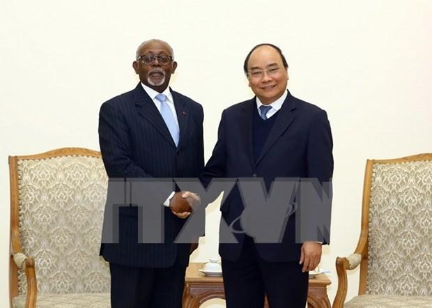 Premier de Vietnam recibe a canciller de Camerun hinh anh 1
