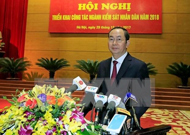 Presidente vietnamita insta a acelerar tratamiento de delitos economicos hinh anh 1