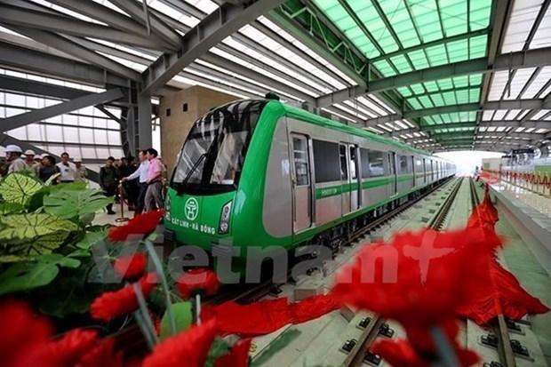 Aceleran ritmo de construccion del ferrocarril elevado Cat Linh- Ha Dong hinh anh 1