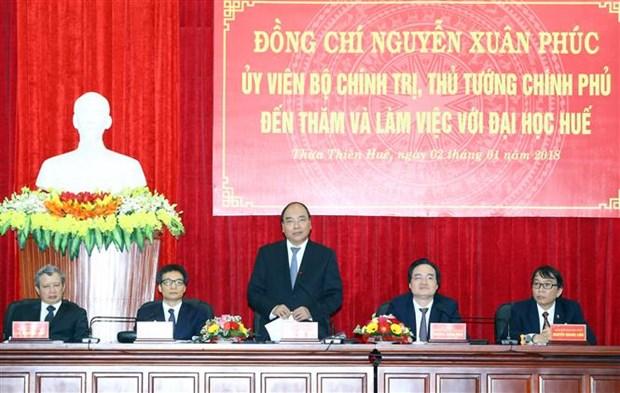 Premier vietnamita pide a Universidad de Hue aumentar autodeterminacion hinh anh 1