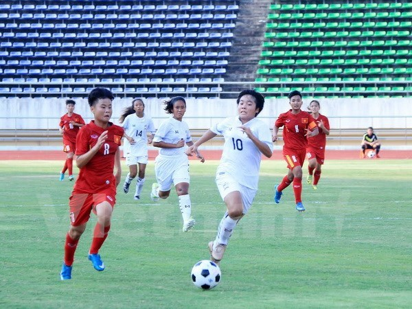 Futbolistas femeninas vietnamitas aceleran preparativos para Copa Asiatica hinh anh 1