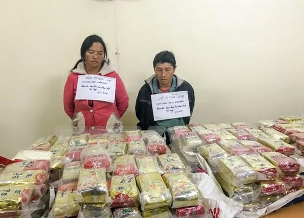 Policia de Dien Bien se incauta cargamento de drogas de cantidad sin precedente hinh anh 1