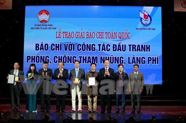 Recibe VNA premios de prensa nacional con lucha contra corrupcion y despilfarro hinh anh 1