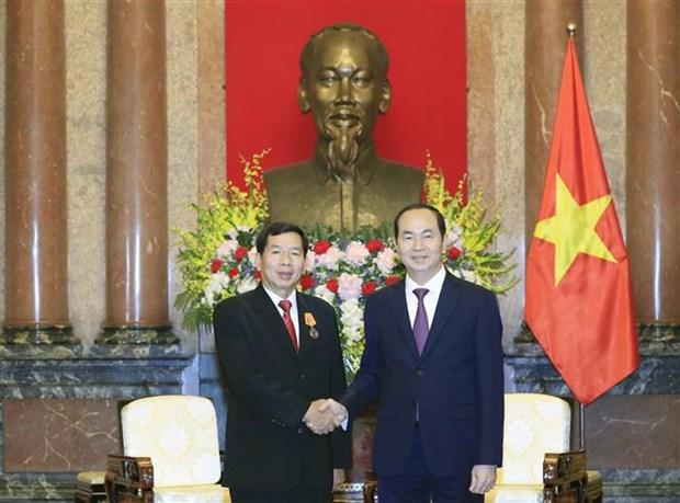 Presidente Dai Quang pide a tribunales de Vietnam y Laos impulsar reformas hinh anh 1
