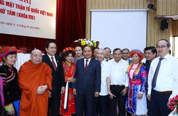 Premier vietnamita: Gobierno comprometido a cooperar con Frente de la Patria hinh anh 1