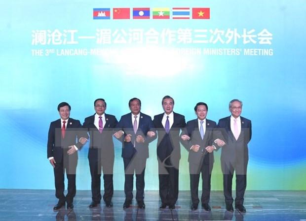 Vietnam participa activamente en cooperacion Mekong-Lancang hinh anh 1