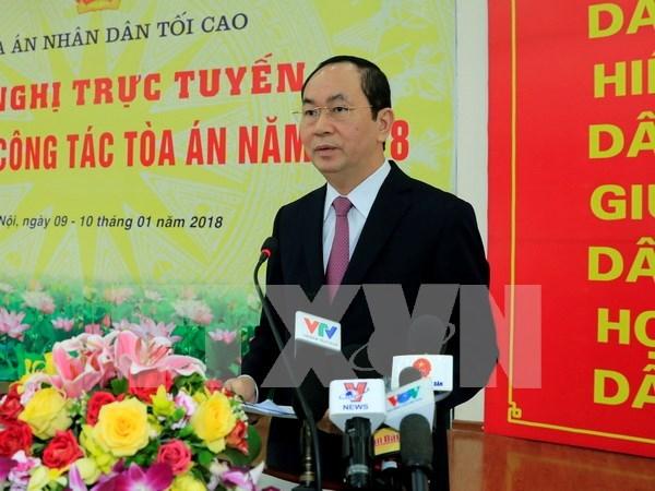 Presidente de Vietnam insta a sancionar estrictamente delincuentes de corrupcion hinh anh 1