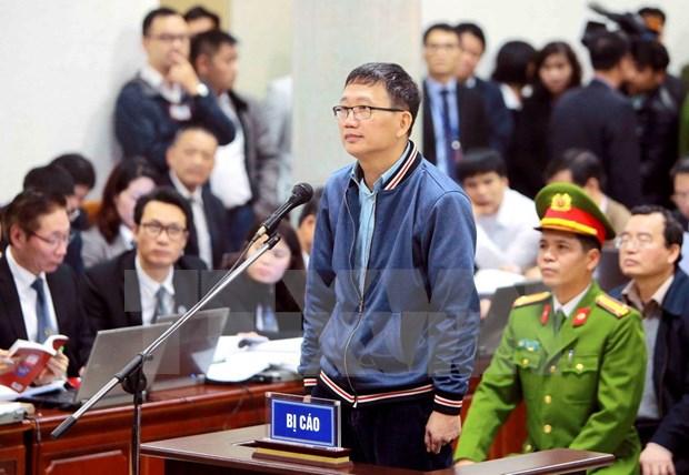 Continuan en Vietnam juicio contra exfuncionarios de empresa petrolera estatal hinh anh 1