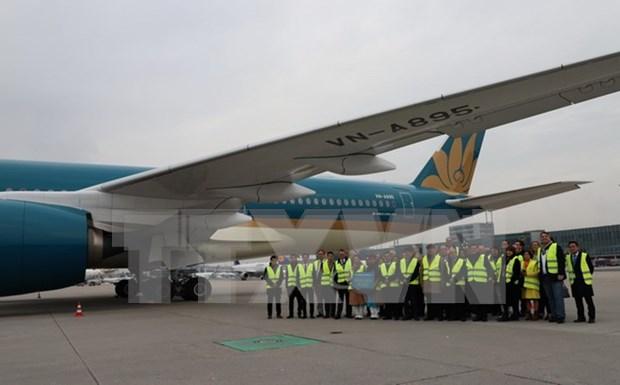 Vietnam Airlines opera vuelos a Alemania con Airbus A350 hinh anh 1