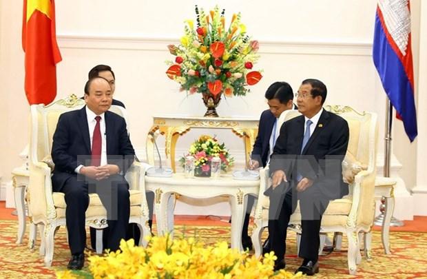 Premier camboyano destaca participacion de Vietnam en Cumbre de cooperacion Mekong-Lancang hinh anh 1